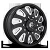 10 LUG FF12D - FRONT GLOSS BLACK & MILLED