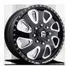8 LUG FF12D - FRONT GLOSS BLACK & MILLED