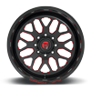 8 LUG FF19D - SUPER SINGLE FRONT GLOSS BLACK W/ CANDY RED