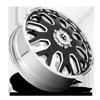 8 LUG FF19D - FRONT GLOSS BLACK W/ POLISHED LIP
