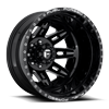 8 LUG FF26D - REAR GLOSS BLACK & MILLED