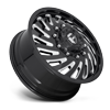 10 LUG FF28D - FRONT GLOSS BLACK & MILLED