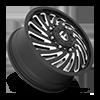 8 LUG FF28D - FRONT MATTE BLACK & MILLED