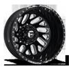 8 LUG FF29D - REAR GLOSS BLACK & MILLED