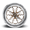 5 LUG FFC45 - 5 LUG | CONCAVE TRANS BROWN OVER POLISH W/ POLISHED WINDOWS