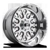 8 LUG FF45D - SUPER SINGLE FRONT POLISHED W/ GRANITE CRYSTAL WINDOWS