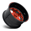 5 LUG FF51 - 5 LUG CANDY RED W/ GLOSS BLACK