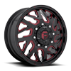 8 LUG FF51D - FRONT GLOSS BLACK W/ RUBY RED