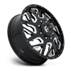 8 LUG FF51D - FRONT GLOSS BLACK & MILLED