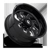 8 LUG FF52D - SUPER SINGLE FRONT GLOSS BLACK & MILLED
