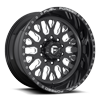 10 LUG FF55D - SUPER SINGLE FRONT GLOSS BLACK & MILLED