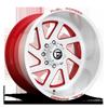 8 LUG FF65 BRUSHED W/ FLAG RED