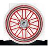 5 LUG FF66 - 5 LUG CANDY RED W/ POLISH LIP