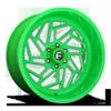 6 LUG FF73 GLOSS LIME GREEN W/ SILVER WINDOWS