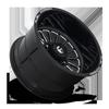 8 LUG FF75 GLOSS BLACK & MILLED