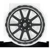 8 LUG FF83 MATTE BLACK & MILLED W/ POLISHED LIP