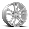 6 LUG FLEX - S257 SILVER WITH BRUSHED FACE