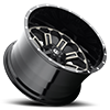 5 LUG CRUSH - D268 BLACK & MACHINED WITH DARK TINT