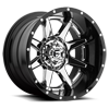 8 LUG RAMPAGE - D247 CHROME WITH GLOSS BLACK LIP