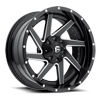 6 LUG RENEGADE - D265 BLACK & MILLED CENTER AND GLOSS BLACK OUTER