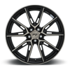 5 LUG GEMELLO - M219 20X9 | GLOSS BLACK & MACHINED DDT