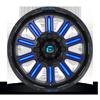 6 LUG HARDLINE - D646 GLOSS BLACK W/ CANDY BLUE