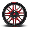 6 LUG IGNITE - D663 GLOSS BLACK W/ CANDY RED