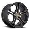 5 LUG IMPALA - F168 MATTE BLACK/MACHINED/DDT