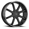 6 LUG 840 EMPIRE GLOSS BLACK WITH MACHINE STRIPE