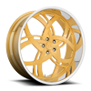 5 LUG JUNGLE - X116 BRUSHED 24K GOLD W/ POLISHED LIP