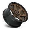 6 LUG KICKER 6 - D699 20X9 ET1 | BRONZE CENTER W/ BLACK LIP