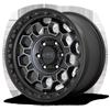 6 LUG KM545-TREK SATIN BLACK MACHINED W/ GRAY TINT