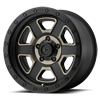 5 LUG XD133 FUSION OFF-ROAD SATIN BLACK MACHINED W/ DARK TINT CLEAR COAT