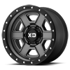6 LUG XD133 FUSION OFF-ROAD SATIN GRAY W/ SATIN BLACK LIP