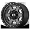 6 LUG XD133 FUSION OFF-ROAD SATIN GRAY W/ SATIN BLACK LIP
