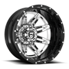 8 LUG LETHAL DUALLY REAR - D266 CHROME FACE W/ GLOSS BLACK LIP