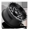 4 LUG LETHAL - D567 - UTV BLACK & MILLED