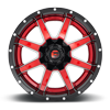 6 LUG MAVERICK D250 CANDY RED W/ GLOSS BLACK LIP