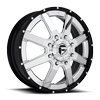 8 LUG MAVERICK DUALLY FRONT - D260 CHROME W/ BLACK LIP