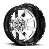 8 LUG MAVERICK DUALLY REAR - D260 CHROME W/ BLACK LIP