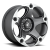 5 LUG MENACE - D684 ANTHRACITE & MACHINED
