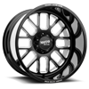 8 LUG MO404 GLOSS BLACK MILLED