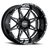 6 LUG MO993 HYDRA GLOSS BLACK WITH CHROME INSERTS