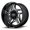 6 LUG MO996 RIPSAW GLOSS BLACK MILLED