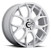 5 LUG MR126 MATTE WHITE W/ MILLED ACCENTS