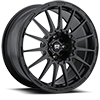 4 LUG MR119 RALLY CROSS S SATIN BLACK W/ CLEAR COAT