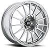 4 LUG MR119 RALLY CROSS S SILVER W/ CLEAR COAT