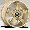 5 LUG MR122 GOLD W/ MACHINED LIP GROOVE