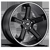 5 LUG MR122 SATIN BLACK W/ MACHINED STRIPE
