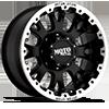 8 LUG MO956 MATTE BLACK W/ MACHINED LIP